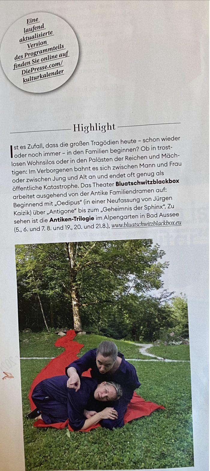 """Schaufenster """"Die Presse"""" 16.7.21"""